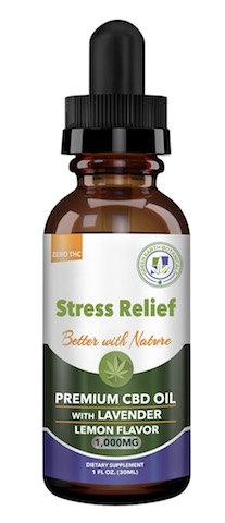 Image of CBD Oil Stress Relief 1000 mg with Lavender Lemon