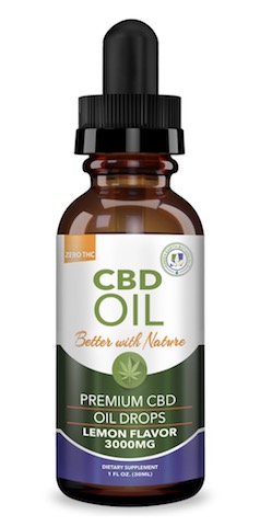 Image of CBD Oil 3000 mg Lemon