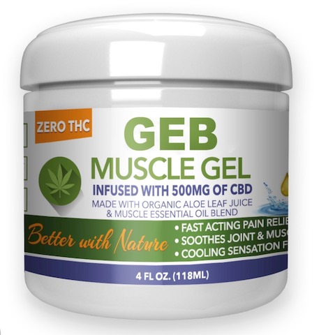 Image of GEB Muscle Gel (CBD 500 mg)