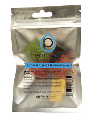 Image of Hemplucid Whole Plant CBD 750 mg Gummy (25 mg each)