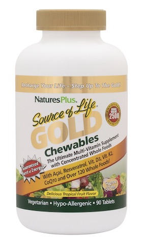 Image of Source of Life GOLD Chewables Tropical Fruit