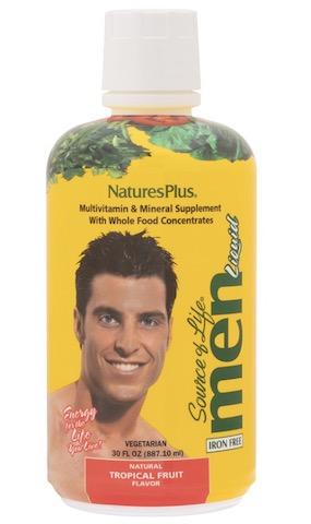Image of Source of Life Men Multivitamin Liquid Tropical Fruit