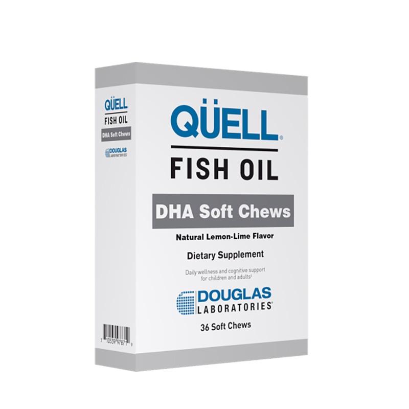 Image of QÜELL® Fish Oil DHA Soft Chews, Natural Lemon-Lime Flavor