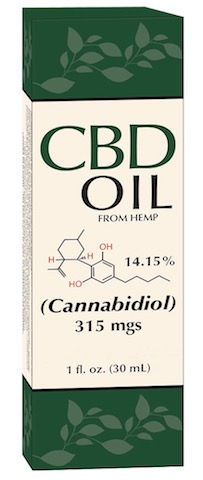 Image of CBD Oil (from hemp) 14.15% 315 mgs Liquid