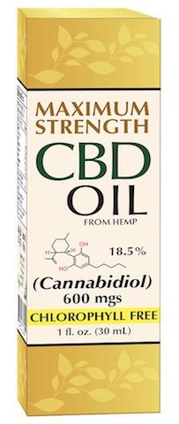 Image of CBD Oil (from hemp) 18.5% 600 mgs Liquid Maximum Strength