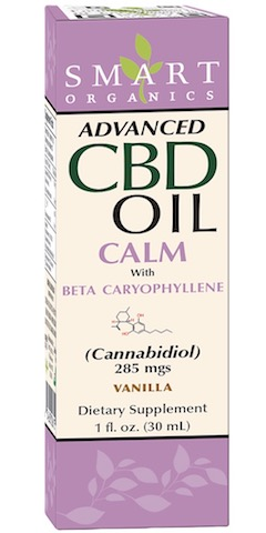 Image of Advanced CBD Oil Calm with Beta Caryophyllene 285 mgs Liquid Vanilla