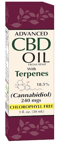 Image of Advanced CBD Oil (from Hemp) with Terpenes 18.5% 240 mgs Liquid