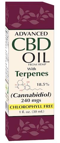 Image of Advanced CBD Oil (from Hemp) with Terpenes 18.5% 240 mgs Liquid
