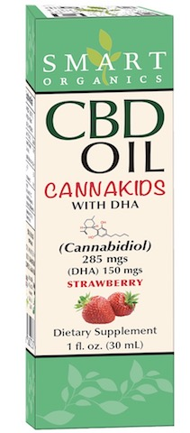 Image of CBD Oil CannaKids with DHA 285 mgs/150 mg Liquid Strawberry