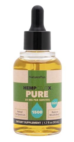 Image of HempCeutix Pure Hemp Oil 1500 (30 mg per Serving) Liquid Mint