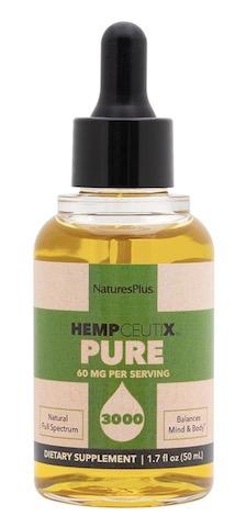 Image of HempCeutix Pure Hemp Oil 3000 (60 mg per Serving) Liquid