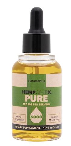 Image of HempCeutix Pure Hemp Oil 6000 (120 mg per Serving) Liquid Mint