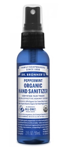 Image of Hand Sanitizer Spray Organic Peppermint
