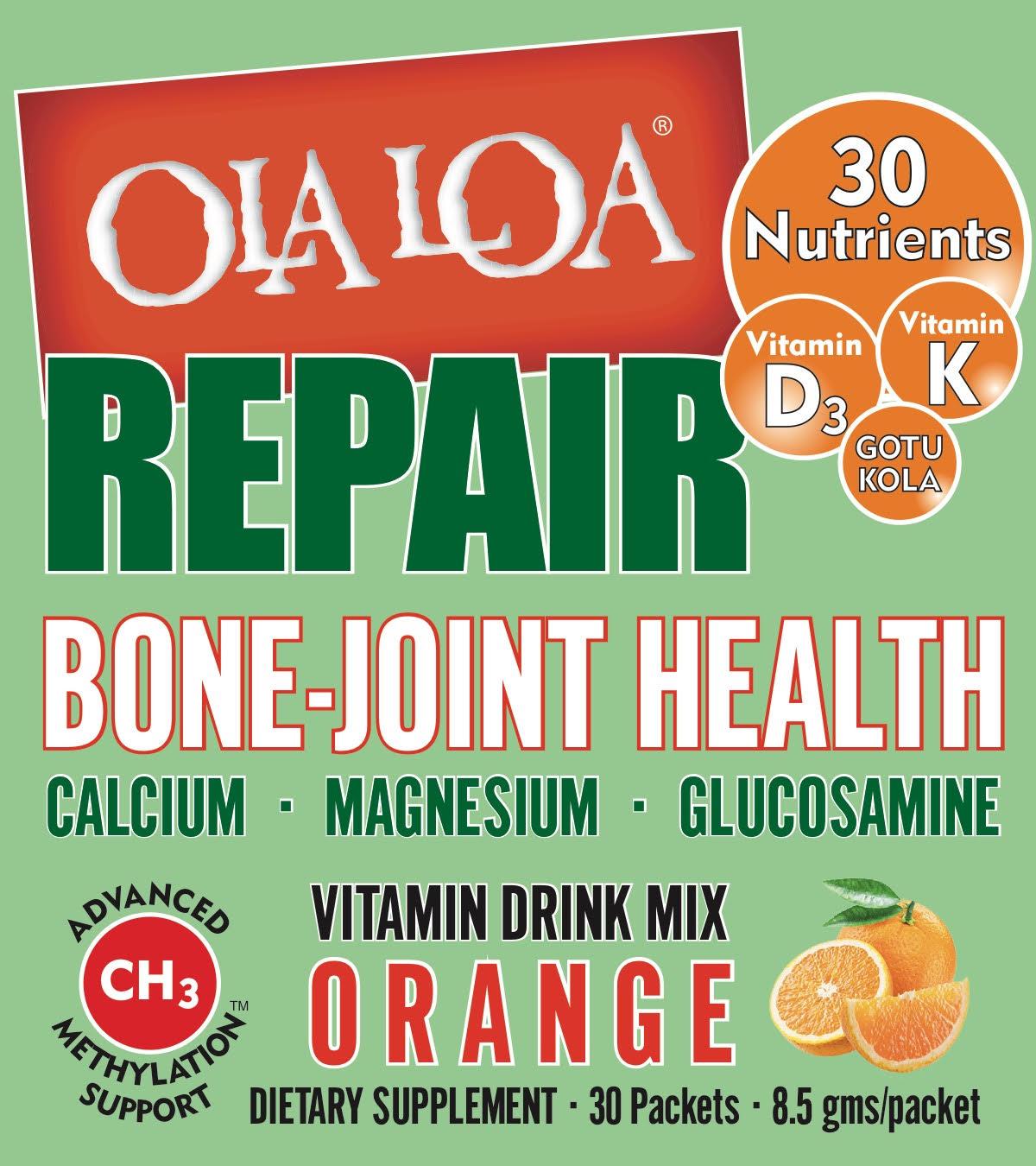 Image of Ola Loa REPAIR Bone & Joint Drink Mix Orange