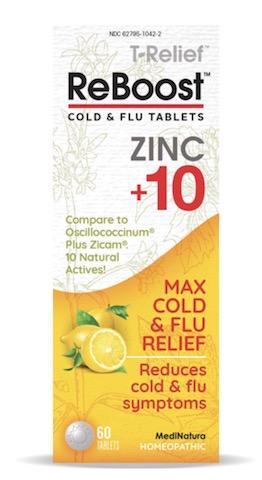 Image of ReBoost Cold & Flu Tablet Zinc +10 Lemon