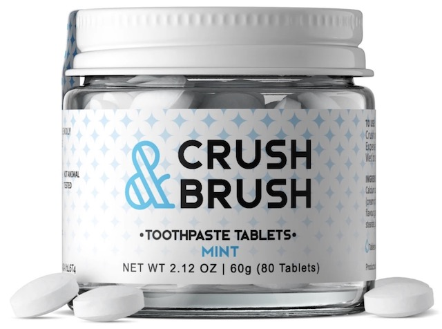 Image of Crush & Brush Toothpaste Tablet Jar Mint