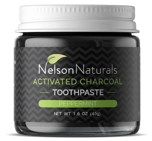Image of Toothpaste Jar Activated Charcoal Peppermint