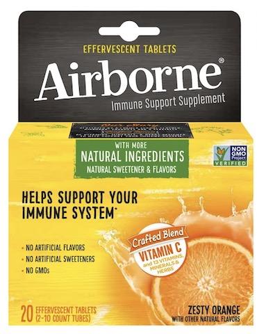Image of Airborne EFFERVESCENT Tablet Zesty Orange