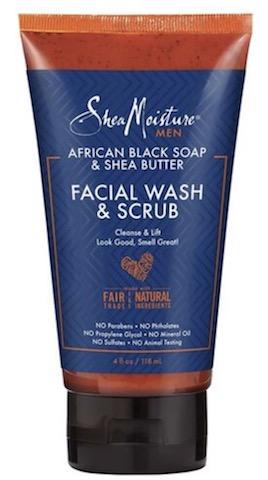 Image of Men African Black Soap & Shea Butter Facial Wash & Scrub