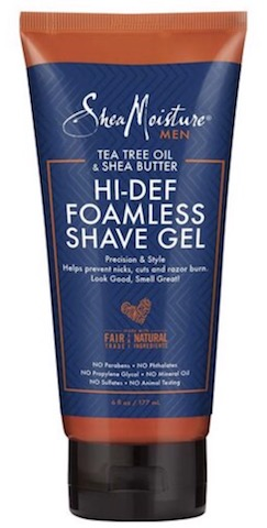 Image of Men Tea Tree Oil & Shea Butter Hi-Def Foamless Shave Gel
