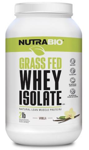 Image of Grass Fed Whey Isolate Powder Vanilla