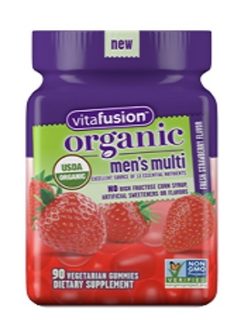 Image of Men's Multi Gummy Organic Strawberry