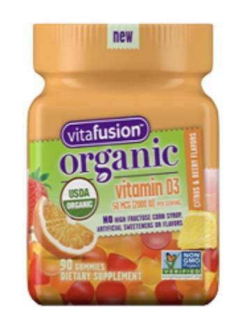 Image of Vitamin D3 50 mcg (2000 IU) (per Serving) Gummy Organic Citrus Berry