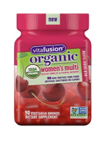 Image of Women's Multi Gummy Organic Wild Cherry
