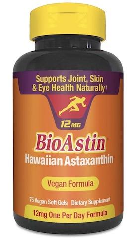 Image of BioAstin 12 mg (Hawaiian Astaxanthin) Vegan Formula