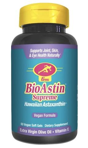 Image of BioAstin Supreme 6 mg (Hawaiian Astaxanthin) Vegan Formula