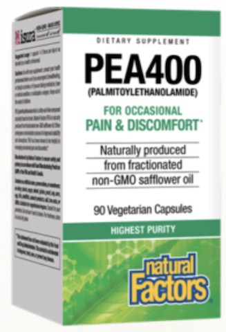 Image of PEA400 (Palmitoylethanolamide) for Pain & Discomfort