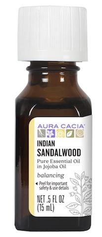 Image of Essential Oil Blend Sandalwood Indian in Jojoba Oil