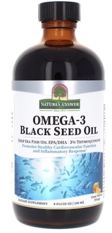 Image of Omega-3 Black Seed Oil Liquid Orange