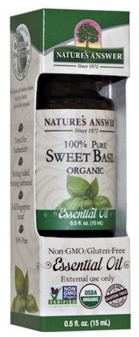 Image of Essential Oil Sweet Basil Organic