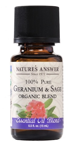 Image of Essential Oil Blend Geranium & Sage Organic