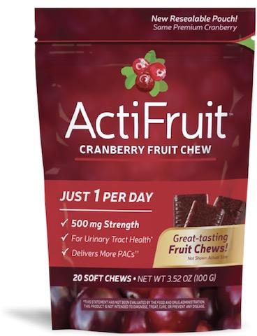 Image of ActiFruit Cranberry Fruit Chews 500 mg