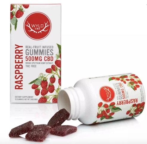 Image of CBD Gummies 500 mg Raspberry