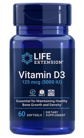 Image of Vitamin D3 125 mcg (5000 IU)
