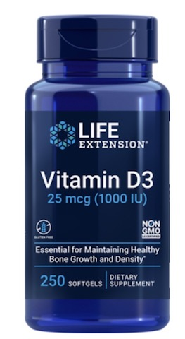 Image of Vitamin D3 25 mcg (1000 IU)