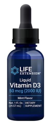Image of Vitamin D3 50 mcg (2000 IU) Liquid Mint