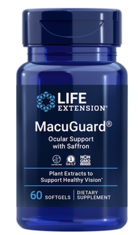 Image of MacuGuard Ocular Support with Saffron (without astaxanthin)