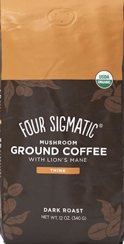 Image of Organic Mushroom Ground Coffee with Lion's Mane