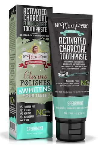 Image of Activated Charcoal Toothpaste Whitening Spearmint