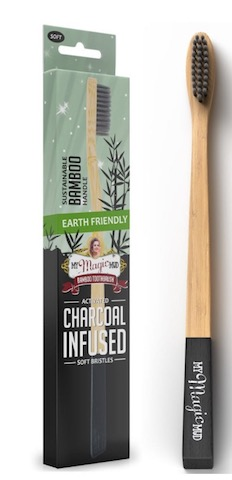 Image of Activated Charcoal Toothbrush Bamboo