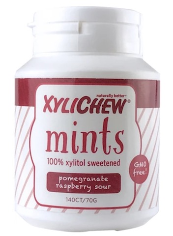 Image of XyliChew Mints Jar Pomegranate Raspberry Sour