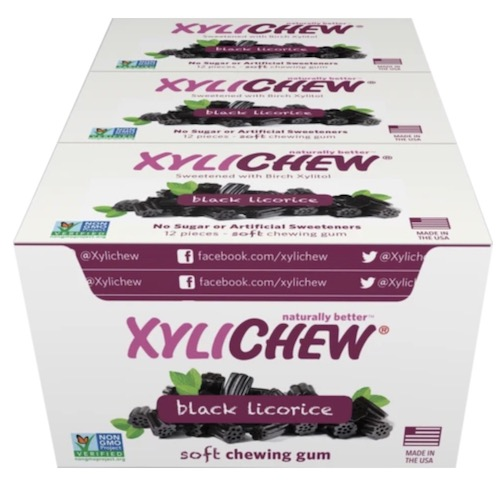 Image of XyliChew Gum Blister Pack Black Licorice