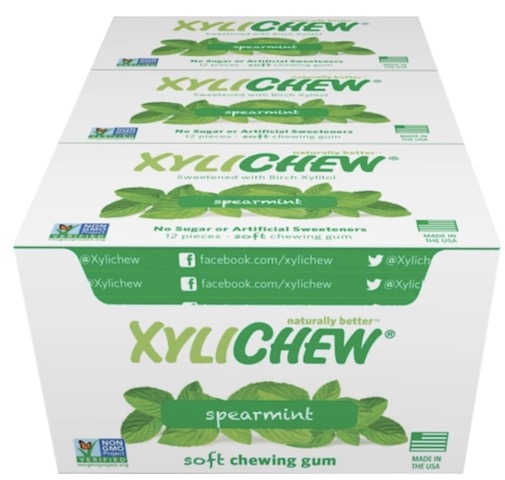 Image of XyliChew Gum Blister Pack Spearmint