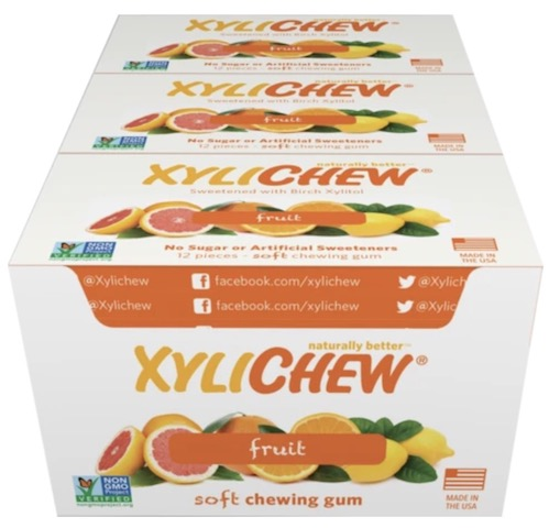 Image of XyliChew Gum Blister Pack Fruit
