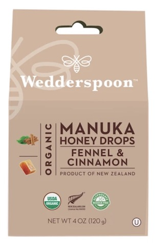 Image of Manuka Honey Drops Organic Fennel & Cinnamon