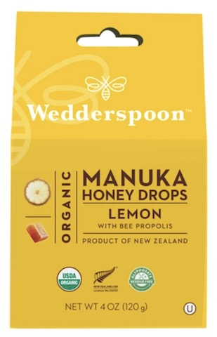 Image of Manuka Honey Drops Organic Lemon with Propolis